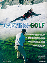 Fachartikel über Carving Golf in der GOLF-TIME 2002