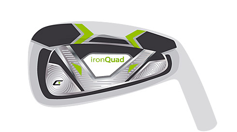 """Quad"" club head for ironQuads PW/9/8/7"